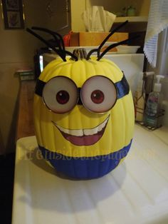 Craft: Making my own Minion Pumpkin | Life...inside the page