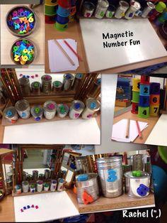 """Magnetic Number Fun from Rachel ("""",) (preschool or kindergarten)"""
