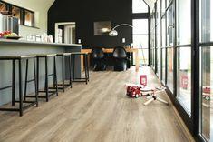 revêtement de sol en vinyle pour votre cuisine avec un bar