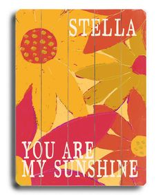 Take a look at this 'You Are My Sunshine' Personalized Sign by Lisa Weedn on #zulily today!