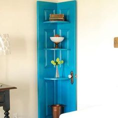 Repurposed! Saw this done with old shutters too.
