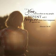 As often as my people repent