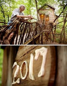Recycled-material treehouse