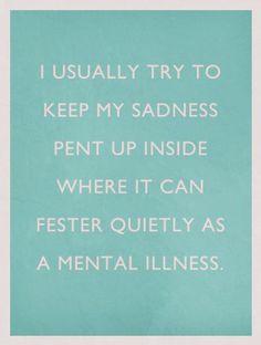 on hidding your feelings...