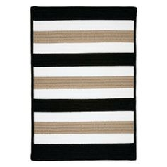Colonial Mills Portico - Sharp Black 10' square by Colonial Mills. $799.00. Fade Resistant. Stain Resistant. 100% Polypropylene. Reversible. Roll it out and let this rug speak for itself. The simple, yet strong colors welcome poolside parties with hassle-free care! Stain, fade and mildew resistant. Reversible for twice the wear. Made in the USA. # PO49R120X120S