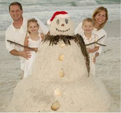 Creative ideas for your Christmas Photocards. Beach Themed Christmas