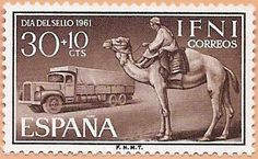 Sello Ifni de 30+10 céntimos, Día del Sello, 1961 - Portal Fuenterrebollo