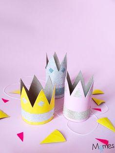 Couronne avec un rouleau de papier toilette ! Parfait pour l'épiphanie ou un anniversaire princesse !