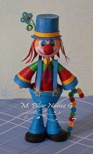 Light blue Clown by Pily Núñez