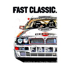Lancia Delta art - Classic Race Car - T-Shirt | TeePublic