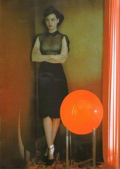 Guinevere Van Seenus photographed by Javier Vallhonrat for British Vogue, September 2008.