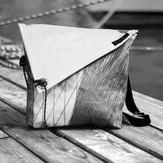 SAIL4ME sailcloth bag in black and white