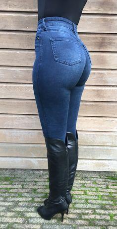 Stephanie Wolf - wearing my tight dark blue jeans