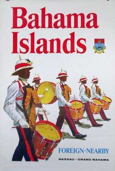 DP Vintage Posters - Bahamas Travel Poster Foreign Nearby