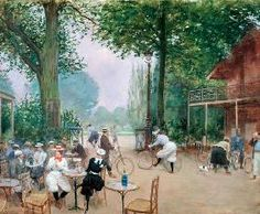 Jean Beraud - The Chalet du Cycle in the Bois de Boulogne