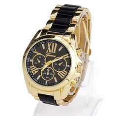 High-quality Black Roman Numerals Pattern Simple Design Alloy Men's Watches :Asujewelry.com