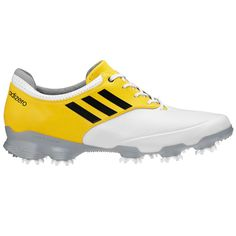 http://www.intheholegolf.com/ADG-Q47086/Adidas-adizero-Tour-Golf-Shoes---Mens-White-Black-Vivid-Yellow.html        Adidas adiZero Tour Golf Shoes   adizero has completely changed other sport categories and is set to do the same to golf. Revolutionizing the fit, feel and shape of adidas Golf footwear, the adizero Tour has been specially-engineered to include only what's essential to perform, and deliver everything a golfer needs to finish strong when it's needed most.
