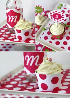 Fun Polka Dot Paper Craft Party Decorations and Ideas {in your choice of colors!} | @kimbyers TheCelebrationShoppe.com