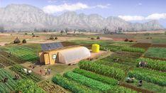 ✔ Un contenedor de carga con lo necesario para montar una granja solar para alimentar a 150 personas 🌿