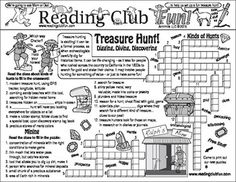 Learn about treasure hunting, types of treasure hunts, gems, mining, and the California and Klondike gold rushes with this Two-Page Activity Set!
