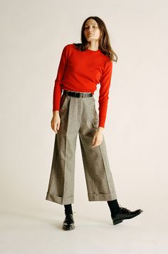 Ines Tweed Wool Pants — Caves Collect