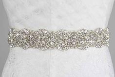 Rhinestone Crystals Wedding Belt, Bridal Sash  $119.99