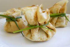 Aumônières au jambon, boursin et chèvre WW, recette de délicieuses crêpes farcies, faciles et simples à réaliser pour un bon repas léger.