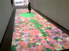 Digital rug. I can see kids having endless fun with this :)