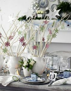 Star & Snowflakes in Branches | Baker Hill Homes