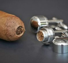 Cigar Cutter Cufflinks...  Friggin awesome