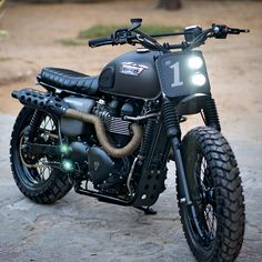 New from Rajputana Customs: a gnarly custom Scrambler built for Triumph Motorcycles India. It's sporting new bars and fenders, a neat custom seat, and Tiger 800XC hand and foot controls. The rubber is Heidenau K60 and the exhaust piping and heat guards are hand-fabricated. We're sold.