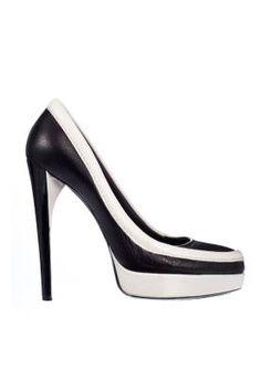 Fall and Winter Heels: Rodarte Black and White Pump