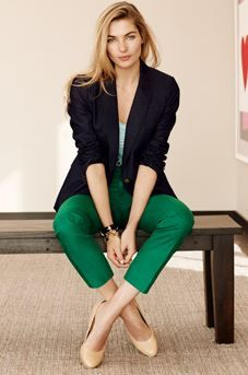 Classic spring work outfit from Banana Republic