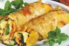 """""""Η μαμά μαγειρεύει"""" Κανελόνια γεμιστά με λαχανικά! Crepes, Vegetable Recipes, Feta, Noodles, Turkey, Tasty, Vegetables, Cooking, Ethnic Recipes"""