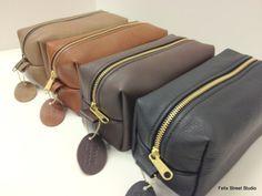 Personalized groom gift dopp kit shaving kit travel bag leather handmade toiletry bag shaving kit for groomsman