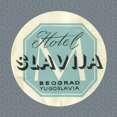 Hotel Slavija, Belgrad, Yugoslavia