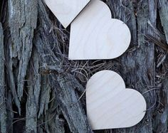 50 Wooden Hearts, Unfinished Wood Hearts, Wedding Decoration, Natural Wood Heart shaped Gift Tag, Place Card,Rustic Wedding Decoration,Craft