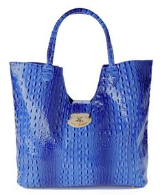 Love this Blue Texture Tote by Vecceli Italy on #zulily! #zulilyfinds