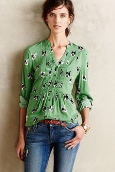Maeve Composed Pintuck Buttondown #anthrofave