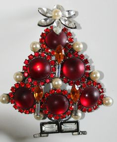 HUGE Larry Vrba Red Christmas Tree over 4 inches!!