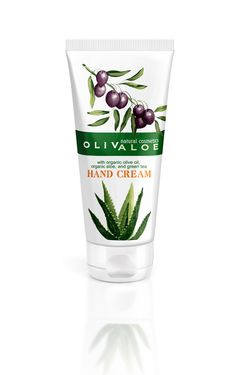 OLIVALOE hand cream, a lush series of natural cosmetics from Crete made with organic olive oil and organic aloe vera Organic Coconut Oil, Organic Oil, Organic Face Cream, Organic Aloe Vera, Natural Cosmetics, Mineral Oil, Face And Body, Body Care, Tableware