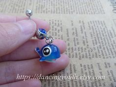 Hey, I found this really awesome Etsy listing at https://www.etsy.com/listing/173462609/cute-blue-fish-charm-belly-button-ring