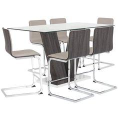 8958cf4433b Kendall Glass High Table   4 Upholstered Barstools. Dining Room SetsGlass  ...