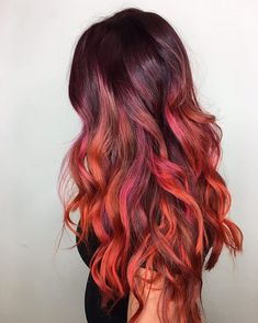 Combining color with full creativity. I love customizing hair. #btconeshot_haircolor16 #btconeshot_color16 . Multi tone red ombré hair