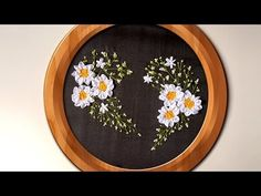 Hand Embroidery | Ribbon Heart Wall Decorating Ideas | HandiWorks #94 - YouTube