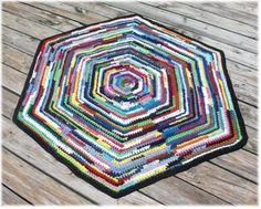 Hexagon T Shirt Rag Rug. Rag Rug TutorialCrochet ...
