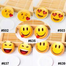 50 unids/lote Cartoon Mixta Flatback Kawaii Emoji Expresión Cara Plana Arte de la Resina para la Decoración Casera DIY Accesorios(China)