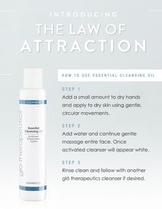 The Law of Attraction: Essential Cleansing Oil www.vitalitystudiosa.com