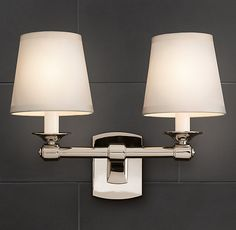 Restoration Hardware Campaign Double Sconce - for upstairs hall bath