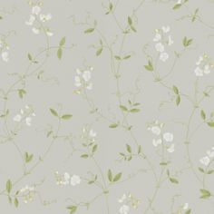 Sanna Light Grey by Sandberg - Airy, fragrant sweet peas that trail their way up the wall. A wonderful, light wallpaper, perfect for a romantic bedroom, where summer lasts all year long.
